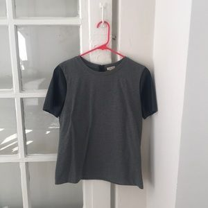 Gray and Leather Tee